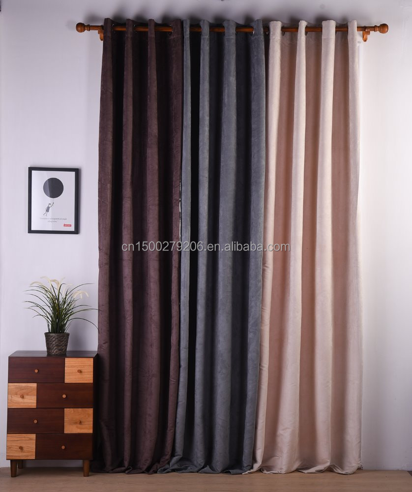 popular design latest light-out luminous type of hotel office window curtain