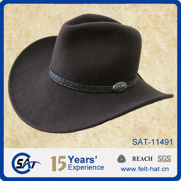 100% lana sombrero de fieltro vaquero-Bufandas, Sombreros y Sets de ...