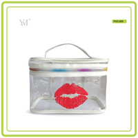 clear transparent waterproof wholesale pvc cosmetic zipper pouch bag