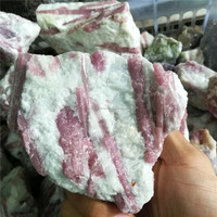 Natural Rough red tourmaline stone , raw tourmaline stone for home decoration