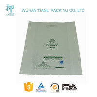 hot sale custom design vivid printed PE plastic bag with hanle