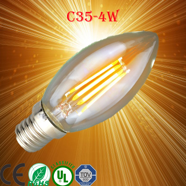 antiquated chandelier flame shape candle c35 led filament e14 candle/cog filament candleled down light /lightbulb /solar light