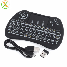 MultiFunction Mini Wireless Keyboard H9 With backlight Touchpad Mouse LED Backlit