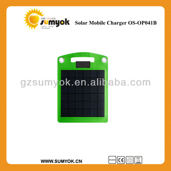 4W 5W Portable solar charger to put in handbag for mobiles and tablets