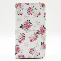 For samsung note 3 stand wallet card holder leather painted mobile case