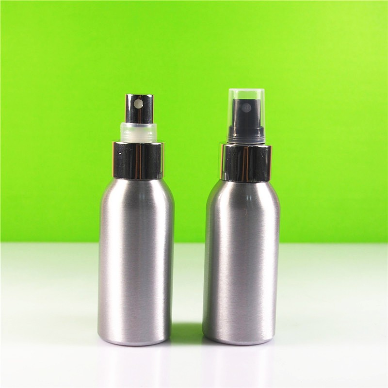 Cosmetic colorful Aluminum bottle with dispenser 1oz 2oz 3oz 5oz 8oz 12 oz