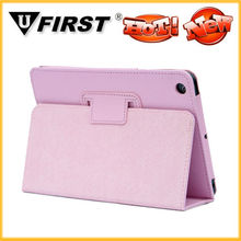 Plain stand leather cover made in China for ipad mini,2013 hot new products wholesale