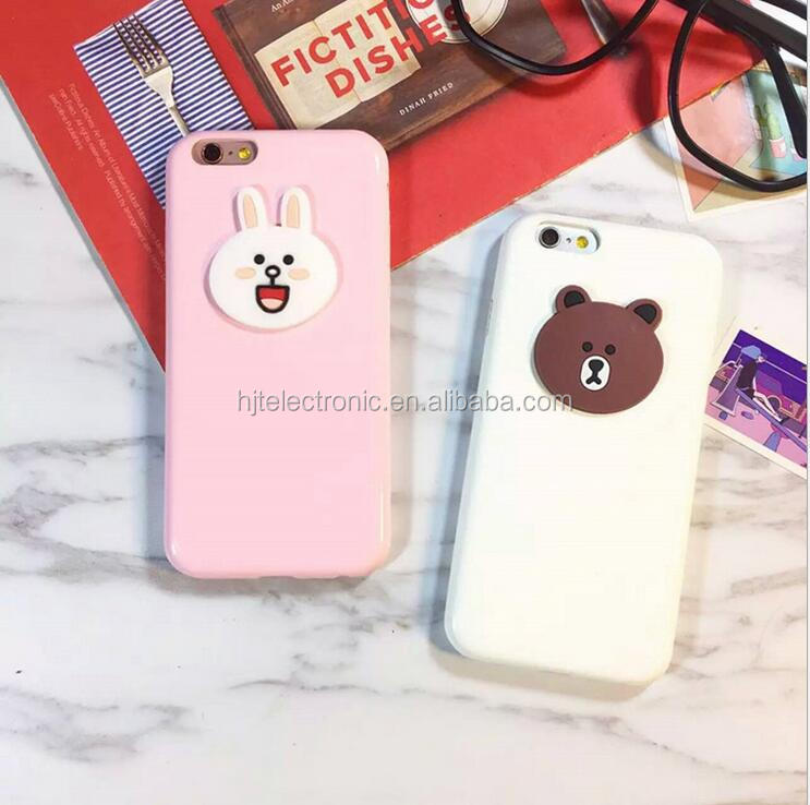 Hot Sell cell phone case Arrival painting bear face phone cover /Durable mobile phone cover for iphone/Samsung /Android