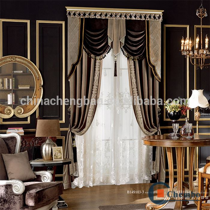 velvet fabric window decorative curtains