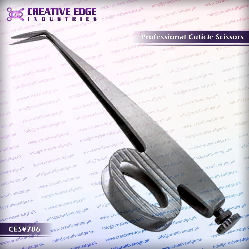 "Side Hooper Cuticle Scissors With High Quality Stainless Steel 3.5"" CES 786"