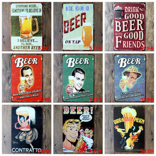Beer Vintage Tin Signs Retro Metal Sign Antique Imitation Iron Plate Painting Decor The Wall Of Bar Cafe Pub Shop Restaurant