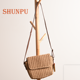 Summer beach travel lady handbags paper straw shoulder bag