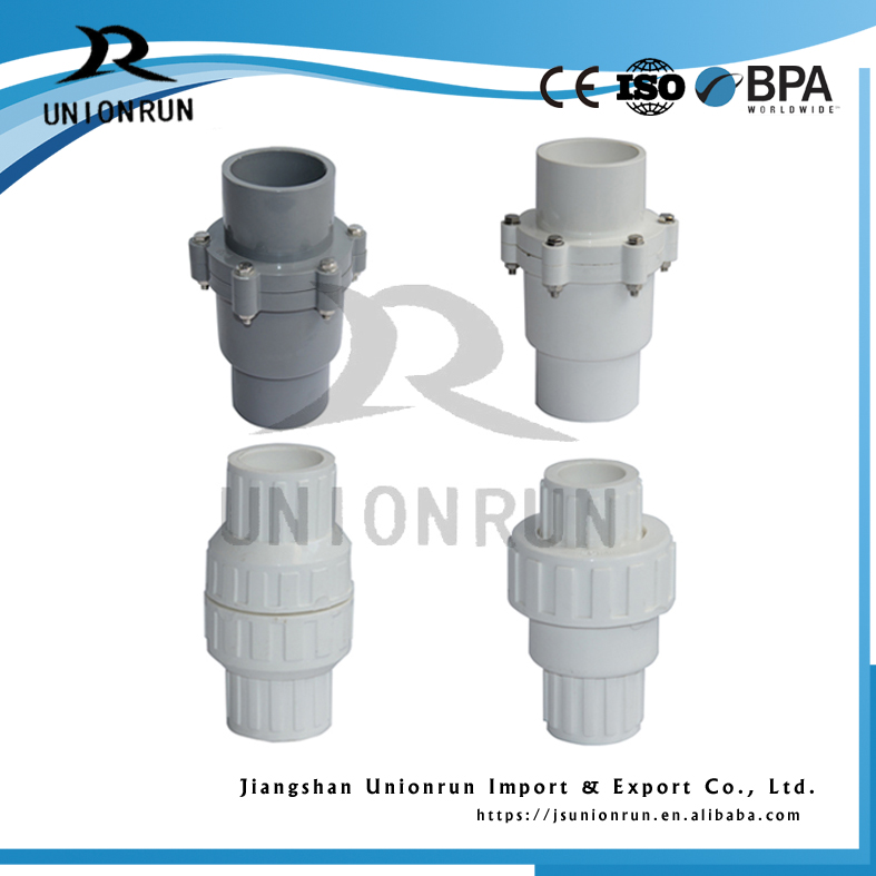 Good Price Pvc Spring and Swing Check Valve Plastic Non Return Valves