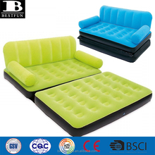 downy flocking adult double inflatable couch and sofa bed