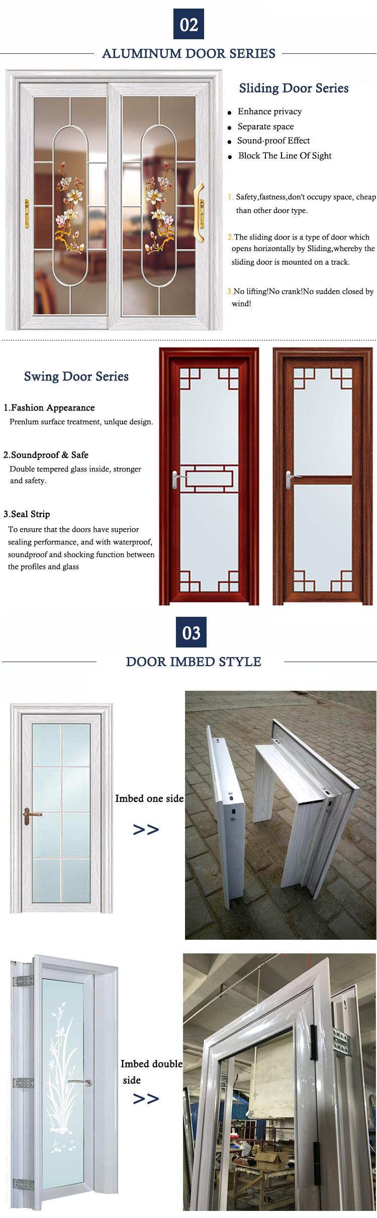 Hs 8015 Glass Interior Pocket Bifold Closet Sliding French Doors