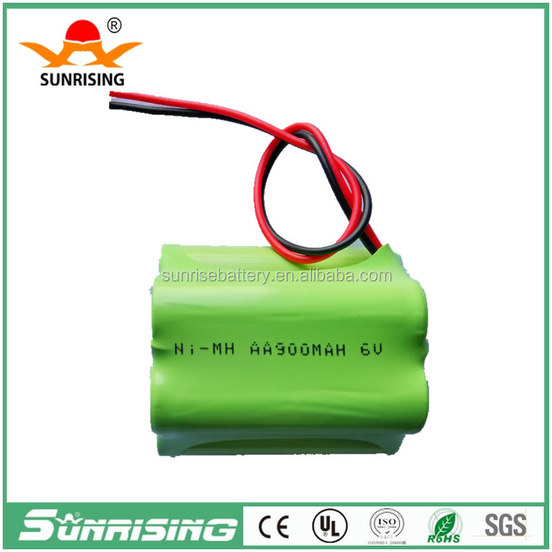 Sunrising 6.0v nimh rechargeable battery pack AA1200mAh for solar lights /for tools