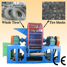 Tire shredding machine/New designed used tire shredding equipment / used rubber shredder machine
