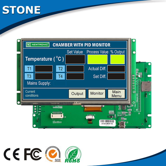 7 inch tft lcd controller with command set for telecom products