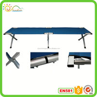 Portable folding army cot,cart bed with 600D carrying bag for space saving