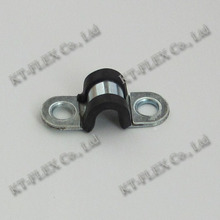 Cable pipe saddle two hole clamp with EPDM