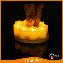 Waving Top and Pillar Shape Led Tea Light Candles with Batter Operated House Decoration Accessories