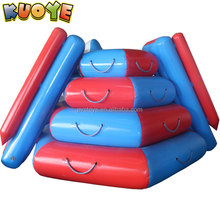 Double sides giant inflatable floating water slide,swimming pool water slide game