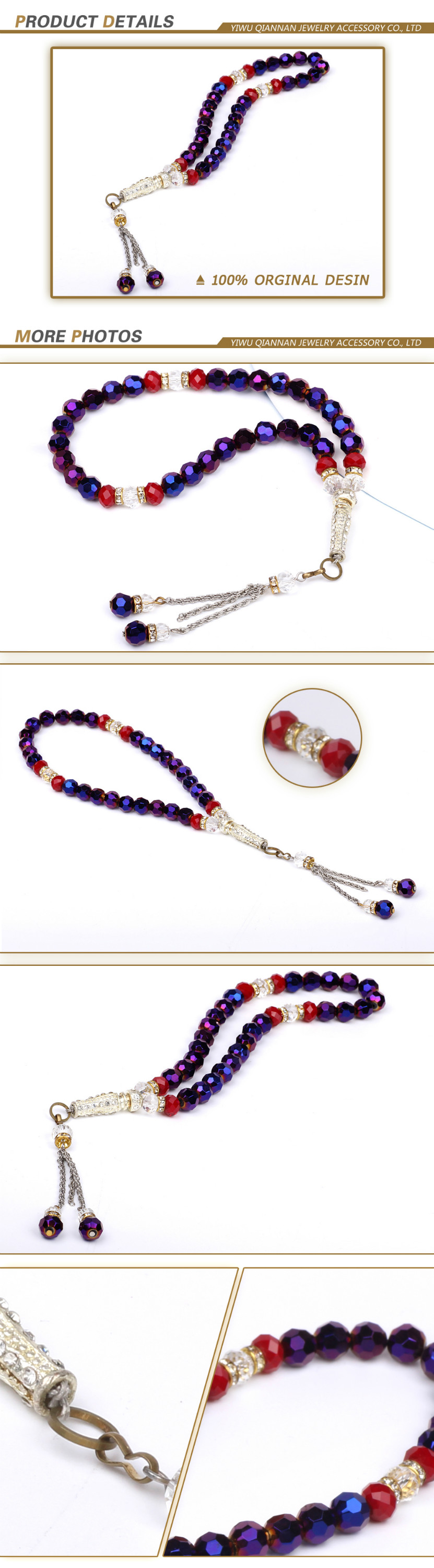 Wholesale cheap solid color round glass prayer beads beads unlimited discount code boncuk tesbih modelleri