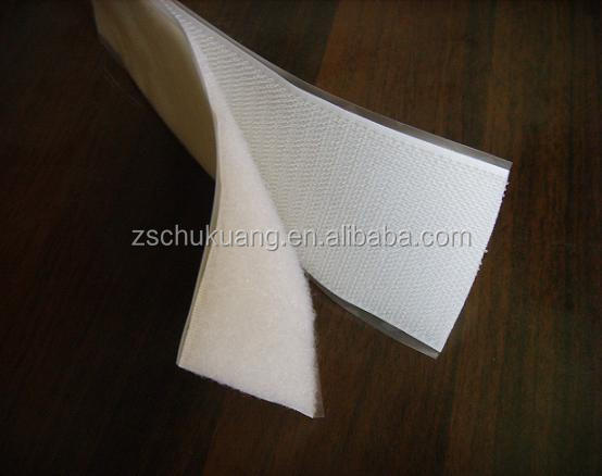 Paper PET nylon adhesive hook and loop tape dot