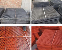 Painting expanded metal mesh (factory)