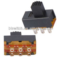 Rohs certification waterproof slide switch for liquid-crystal TV sets,car radios,camera VCRs