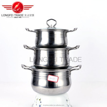 china top quality stainless steel europe and america market soup pot set/cooking pot set