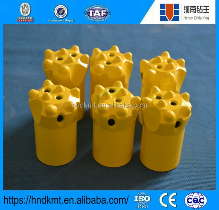 Tungsten carbide rock drill bit 7 tips taper button bit