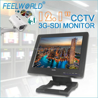 "12.1"" on cctv camera to rf audio wireless transmitter with 3G-SDI HDMI YPbPr Video"