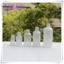 clear essential oil 15ml,30ml,50ml,120ml boston round frost glass bottle