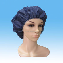 disposable surgical headwear/sms white bouffant caps medical/green scrub caps