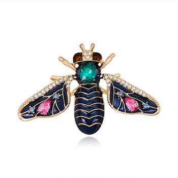 Hot selling black enamel bee brooch cute insect brooch for women