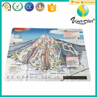 Digital Printing Microfiber Map Fabric Map