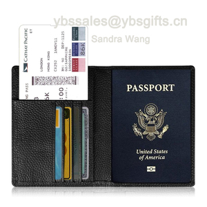Passport Holder Travel Wallet - Leather RFID Blocking Case Cover - Securely Holds Passport, Business Cards, Credit