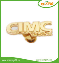 2014 metal gold plated letter and number lapel pin