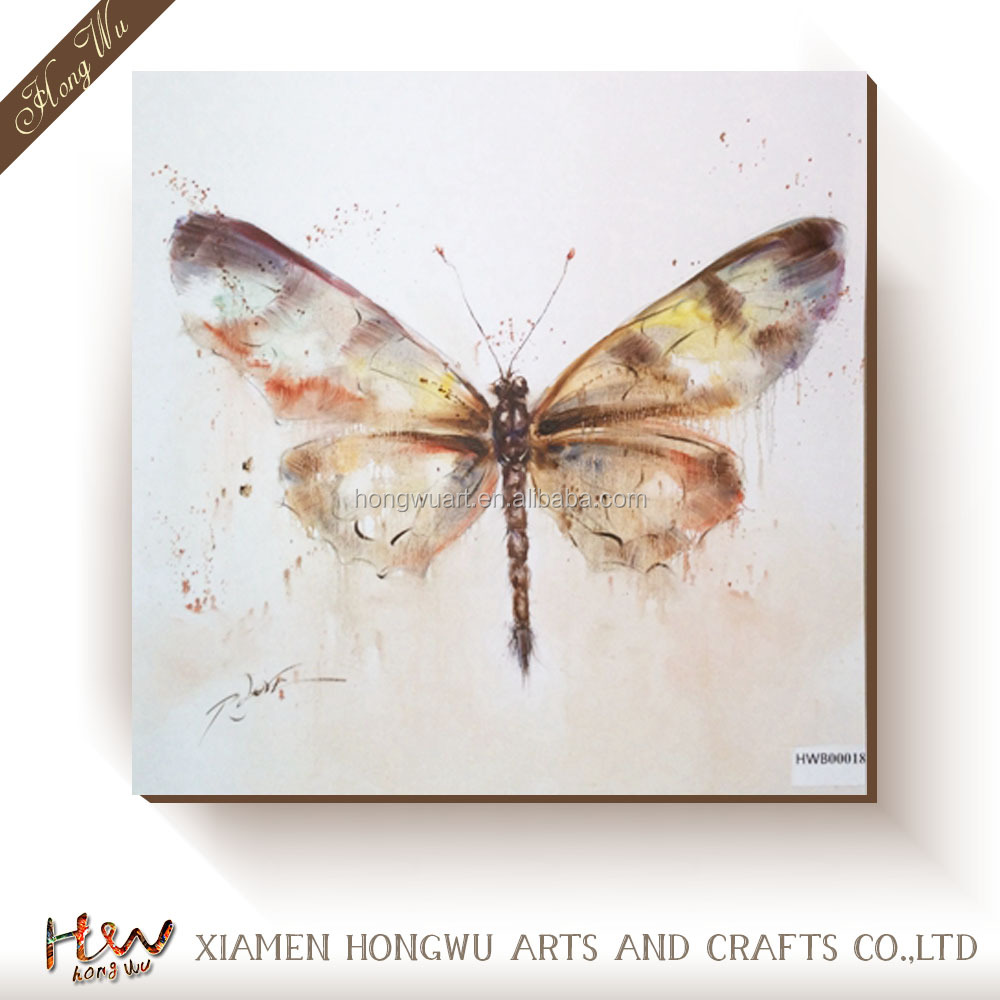Handmade oil painting patterns Butterfly painting