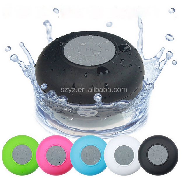 Waterproof IPX4 Bathroom/Shower Portable Wireless Music Mini Bluetooth Speaker with suction cup