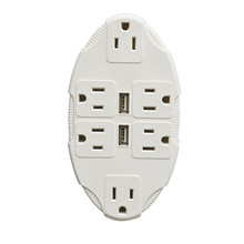 USB OUTLET MULTIPLIER (INCLUDES 6 SOCKETS AND 2 USB PORTS)