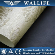 WLF0701 / damask pattern fabric backed wallpaper / fabric-backed vinyl wallcoverings