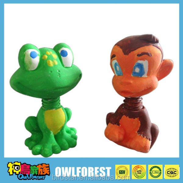 Educational Kid Painting Toys,DIY toys Plaster Animal--monkey and Frog