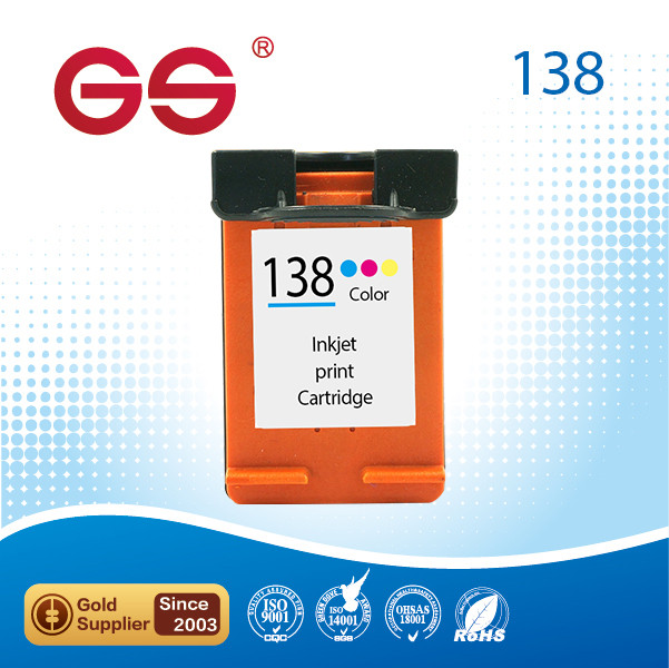 High quality 138 Remanufactured inkjet cartridges for HP