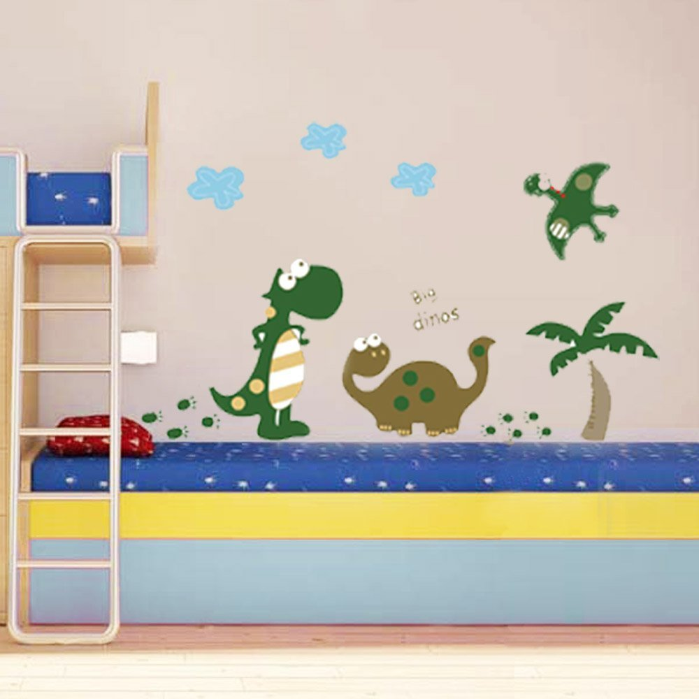 """Big Dinos!"" Dinosaur Premium Wall Stickers - Removable and Repositionable for Boys / Kids Bedroom Walls from Wall Stickers War"