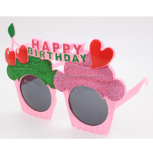 9170824-45 Birthday candle glasses party glasses fashion color fruit cake sunglasses