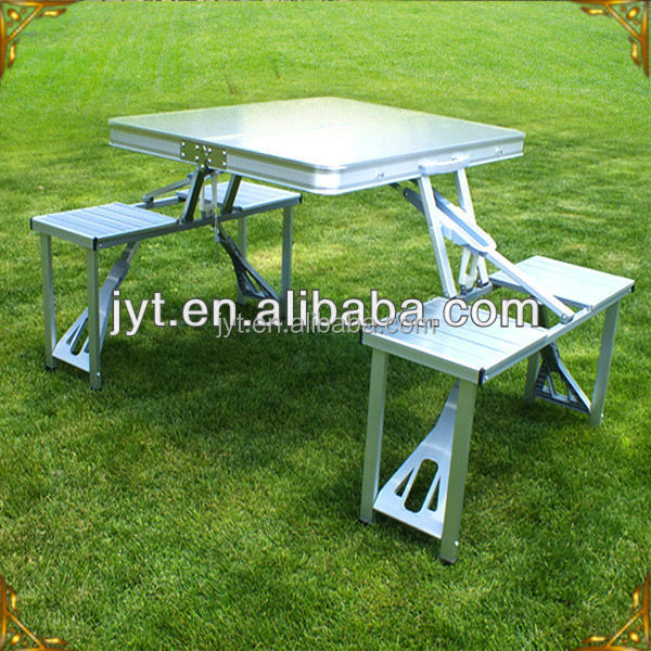 High quality Aluminum <strong>folding</strong> picnic camping table