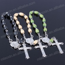 2018 New Fashion Religious olive wood Rosary Bracelet