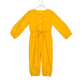 Vintage young girls bright color bodysuit one piece kids autumn jumpsuit